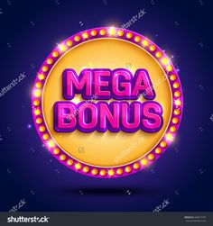 Big Win Background With Glowing Lamps For Online Casino, Poker, Roulette, Slot…