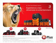 The monsters is home entertainment are here....Mr.Plus home theatre systems