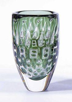 ** Ingeborg Lundin, (Swedish, 1921-1992), Orrefors, Ariel Glass Vase.
