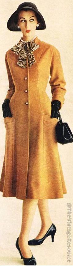 Hilda Jablow wool coat 1955