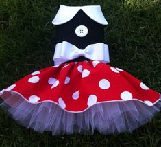 Minnie Mouse Dog Dress Costume Halloween for by ChloeBellaDesigns
