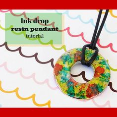 A trip to the hardware store as the start for your next resin pendant? Say what?! http://www.resinobsession.com/resin-tutorials/ink-drop-resin-washer-pendant-tutorial #resin #resinobsession