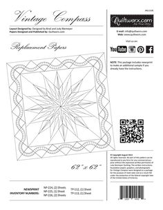 Canton Village Quilt Works | Vintage Compass Replacement Papers