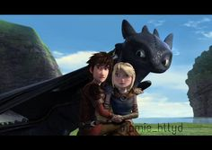 Hiccup and Astrid They were probably just hanging out and then a threat popped up and Hiccup's in front of Astrid to protect her. Httyd Dragons, Dreamworks Dragons, Dreamworks Animation, Disney And Dreamworks, Toothless Dragon, Hiccup And Toothless, How To Train Dragon, How To Train Your, Hicks Und Astrid