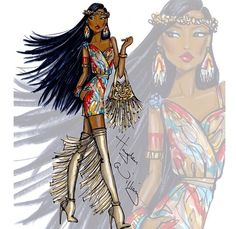 Hayden Williams disney fashionista Pocahantas
