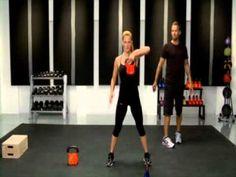 Bob Harper Basic Kettlebell Workout part 1