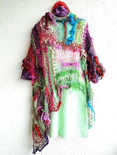 Crochet Designs, Knitting Designs, Knitting Patterns, Freeform Crochet, Knit Crochet, Knit World, Yarn Painting, Lace Art, Innocent Child