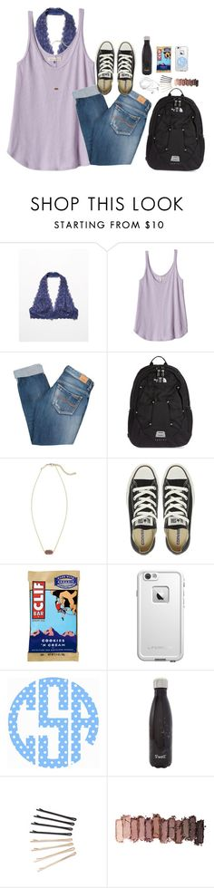 """""""There's a reason preppy is always in style"""" by cora-g77 ❤ liked on Polyvore featuring Free People, Rebecca Taylor, Pepe Jeans London, The North Face, Kendra Scott, Converse, LifeProof, S'well, ban.do and Urban Decay"""