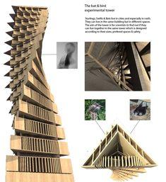Bird & Bat Experimental Towers by panagiotis konikkos at Coroflot.com
