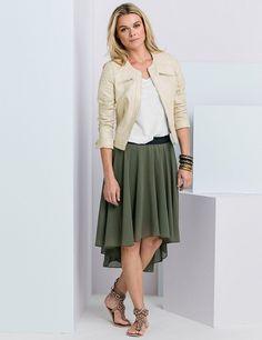Asymmetrischer Jupe, khaki Midi Skirt, Skirts, Fashion, Black, Moda, Fashion Styles, Midi Skirts, Skirt