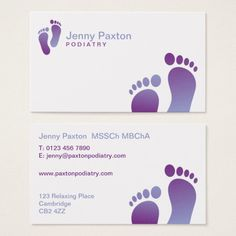 Shop Podiatrist Business Card created by Personalize it with photos & text or purchase as is! Paraffin Bath, Podiatry, Foot Reflexology, Foot Massage, Feet Care, Business Card Logo, Business Planning, Deco, Pedicure