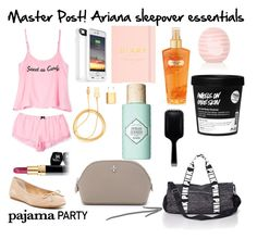 """Master Post: Ariana sleepover essentials"" by ariana-grande-style-100 ❤ liked on Polyvore featuring beauty, Victoria's Secret PINK, Mophie, Wildfox, Topshop, Chanel, PhunkeeTree, Victoria's Secret, GHD and Dolce Vita"
