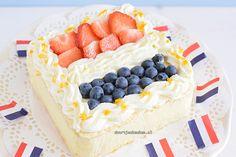 Een leuke, frisse maar vooral overheerlijke fruitige taart om Koningsdag mee te vieren: een koningsdagtaart Oranje boven, oranje boven!