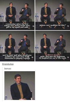 richard wanted to be legolas. HAHAHAHA LEE'S FACE IN THE FOURTH ONE XD SO DISAPPOINTED