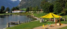 Schlitterer See und Cafe / Restaurant Outdoor Swimming Pool, Swimming Pools, Cafe Restaurant, Summer Days, Bathing, Mayrhofen, Vacation, Outdoor Pool, Swiming Pool