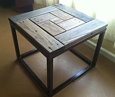 Reclaimed Redwood End Table...inspiration only, sadly no plans
