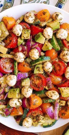 Cucumber Recipes, Summer Salad Recipes, Salad Recipes For Dinner, Healthy Salad Recipes, Vegetarian Recipes, Spring Recipes, Vegetarian Salad, Spring Desserts, Rib Recipes