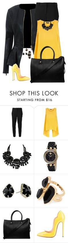 """Untitled #642"" by mariacaniuca ❤ liked on Polyvore featuring Delfina, MICHAEL Michael Kors, Versace, Kendra Scott, River Island and Paul & Joe"