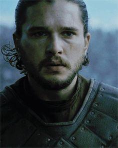 "Kit Harington as Jon Snow in Game of Thrones S06E09, ""The Battle of Bastards"""