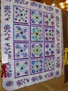 Aunt Millie's Garden in purples from the blog, FABRIC THERAPY