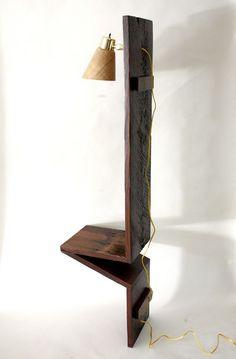 Original wooden nightstand