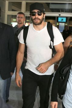 Jake Gyllenhaal at Nice airport to join the glitz and glamour of Cannes.
