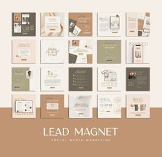 6 in 1 Influencer Coach Bundle CANVA by Eviory on @creativemarket Instagram Design, 2 Instagram, Social Media Template, Social Media Design, Instagram Creator, Lead Magnet, Folder Design, Magnets, Identity Design