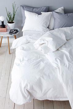 Dena cover sheet in tightly woven cotton 4 parts- Påslakanset Dena i tätvävd bomull 4 delar Ellos Home The Dena duvet cover in cotton # duvets -