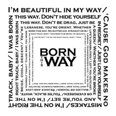 "Lady Gaga ""Born This Way"" Printable at printabledecor.net by A Smith of All Trades #printable #LadyGaga"