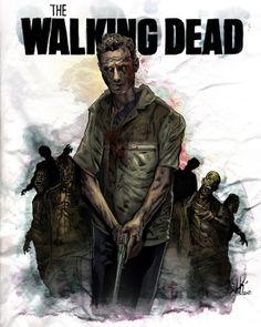 The Walking Dead LIMITED EDITION Fan Art Print. $29.00 by Brian Jameson