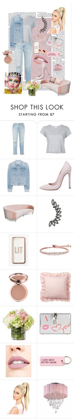 """""""Untitled #294"""" by marlaj-50 ❤ liked on Polyvore featuring Current/Elliott, RE/DONE, rag & bone, Missguided, CARAT* London, Pottery Barn, Dolce&Gabbana, Jouer, Various Projects and Warehouse of Tiffany"""
