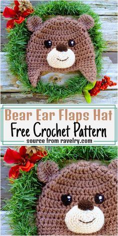Crochet Animal Hats, Crochet Hats For Boys, Crochet Baby Beanie, Crochet Teddy, Baby Hats Knitting, Crochet Baby Clothes, Hats For Kids, Crochet Crafts, Crochet Projects