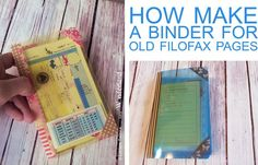 Lucy-Wonderland: Tutorial: Binder for old filofax pages
