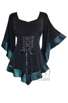 Mystic Crypt Plus Size Black Gothic Treasure Corset Top in Teal Blue [FC28T] - Plus Size Black Gothic Treasure Corset Top in Teal BlueOur Treasure top is ready for adventure, whether you are going out on the town, to an after-work cocktail party, or off to hunt pirate's treasure or slay mythic dragons! This top is strong, yet sexy and feminine at the same