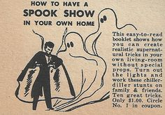How to Have A Spook Show