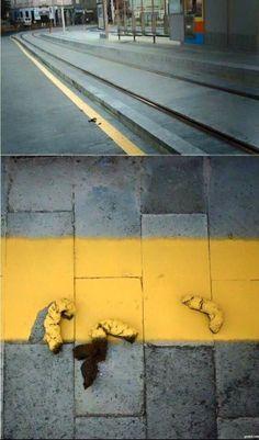 It's like street art, except poop.