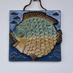 Scandinavian Wall plaque fish Ego by Willy Fischer midcentury art Sweden Mid Century Art, Wall Plaques, Sweden, Stoneware, Scandinavian, Sculptures, My Etsy Shop, Ceramics, Fish