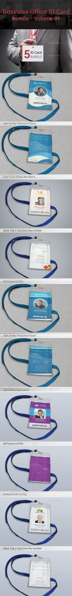 Business Office ID Card Bundle | Volume 01 — Vector EPS #card #office badge • Available here → https://graphicriver.net/item/business-office-id-card-bundle-volume-01/13296468?ref=pxcr