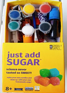 Just Add Sugar STEM Kit from Griddly Games Craft Projects For Kids, Arts And Crafts Projects, Easy Projects, Teaching Kids, Kids Learning, Parental Guidance, Chemical Reactions, Kits For Kids, Home Made Soap