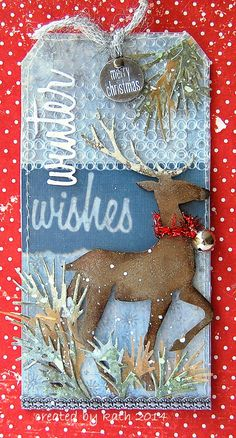 """Kath's Blog......diary of the everyday life of a crafter: Tim Holtz """"12 Tags of 2014""""...December"""