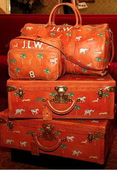 The Darjeeling Limited. The luggage was hand-painted by Wes Anderson's brother.