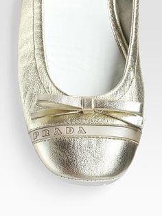 Gold. Ballet flats. Prada. Love love love flats!!