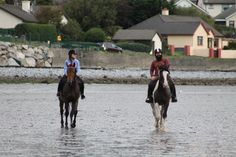 Clients on the beach. #loveirishhorses  Visit our website for more information on our #horseriding #vacation options.http://coopershilllivery.wix.com/coopers-hill-livery