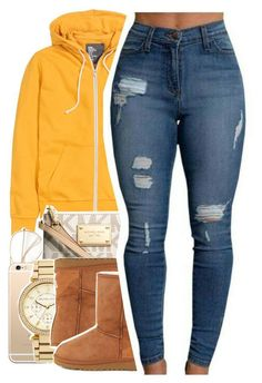"""You call her Stephanie, I call headphanieeee"" by uniquee-beauty ❤ liked on Polyvore featuring H&M, Michael Kors, MICHAEL Michael Kors and UGG Australia"
