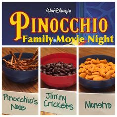 Pinocchio Movie Night snacks | A Disney Mom's Thoughts