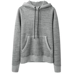 Rag & Bone Heathered Racer Hoodie ($175) ❤ liked on Polyvore featuring tops, hoodies, sweaters, outerwear, long hooded sweatshirt, raglan hoodie, long hoodie, sweatshirts hoodies and long tops
