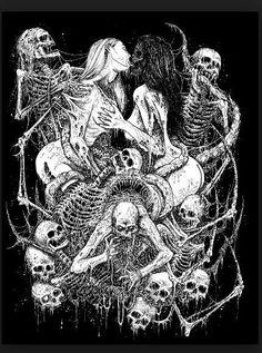 Death Metal Art by Mark Riddick Death Metal, Dark Fantasy, Fantasy Art, Satanic Art, Evil Art, Arte Obscura, Music Artwork, My Demons, Horror Art