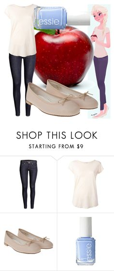 """""""Elsa"""" by dutchveertje ❤ liked on Polyvore featuring H&M, James Perse, Repetto, Essie, disney, disneybound, frozen, disneycharacter and elsa"""