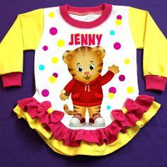 Daniel The tiger Personalized Girl Pajama