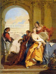 La muerte de Sofonisba Pintor: Giovanni Battista Tiepolo Museo Thyssen-Bornemisza